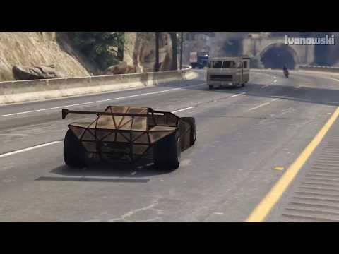 GTA 5 - CAN A RAMP CAR FLIP A TRAIN?