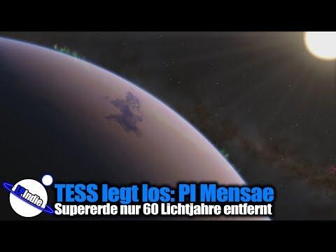 Weltraumteleskop TESS legt los: Supererde im System Pi Mensae