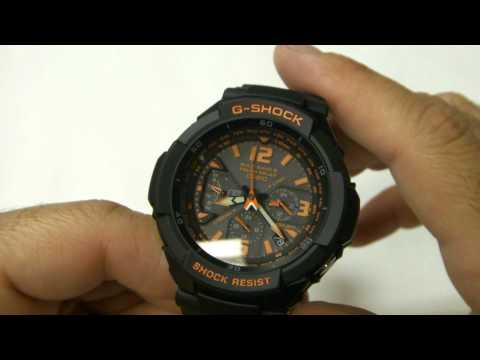 Review of the Casio G-Shock GW-3000B-1A  Aviator Watch in HD