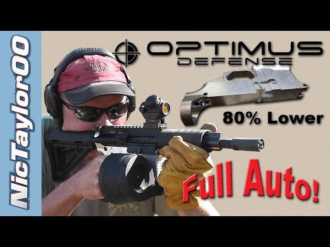 Full Auto 80% Lower - Optimus Defense Billet Review