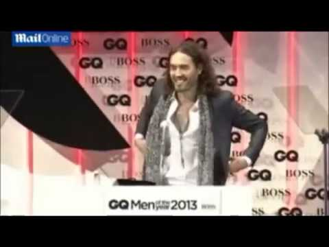 Russell Brand Kicked Out Of Gq Men Awards 2013 For Pointing Out Hugo Boss Made Nazi Uniforms video