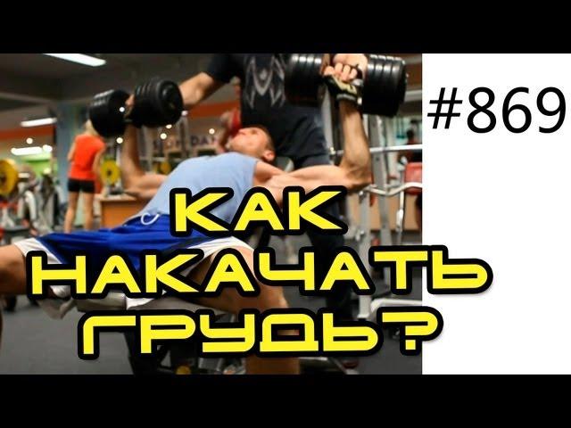 Посмотреть ролик - Ролик: Как накачать грудь - Упражнения на грудь со штанг