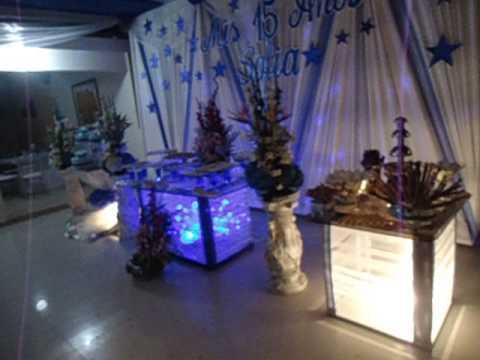 Decoracion azul para 15 a os danny sound eventos - Decoraciones en color plata ...