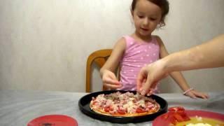 готовим пиццу быстро и очень вкусно!