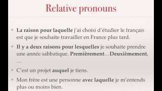 Easy relative pronouns for the French VCE oral - 5/6