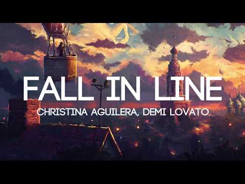 Christina Aguilera - Fall In Line ft. Demi Lovato (Lyrics/Lyrics Video) #1