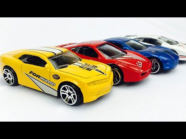 Carros de Carreras para NiГos - Autos en Colores Primarios