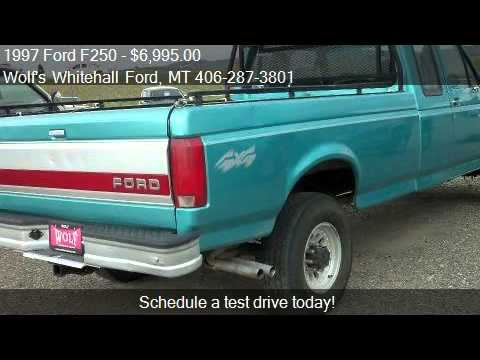 1997 Ford F250 XL for sale in Whitehall, MT 59759 at the Wol