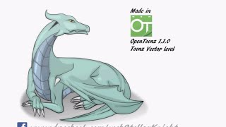 Firts test #OpenToonz: Dragon by Stellar Knight