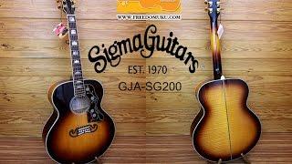 [Guitar Review]กีตาร์โปร่งไฟฟ้า Sigma Guitar GJA-SG200 by Freedom Uku Music