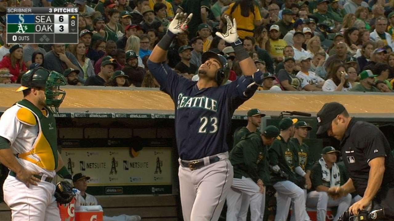 7/3/15: Mariners crush four homers to sink A's