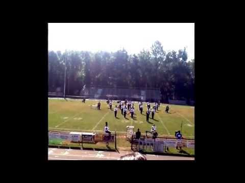My awesome junior Drum Major salute.  Competition was located at David Crockett High School.