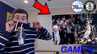 SIXERS NETS BRAWL!! GAME 4 RECAP/REACTION!! BEST GAME OF THE PLAYOFFS SO FAR??