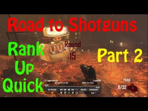 Black Ops 2 Zombies l Ranking System - Road to Shotguns(Rank UP Quick Strategy Tutorial)