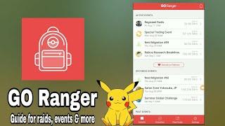 GO Ranger App For Pokemon Go ( Guide for raids, events & more )