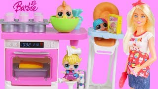 Barbie Baking Playset for Halloween Trick or Treat LOL Dolls Costumes