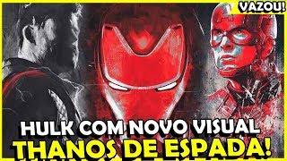VAZOU VISUAIS DOS VINGADORES 4, DETALHE PARA THANOS, HULK E CAPITÃO