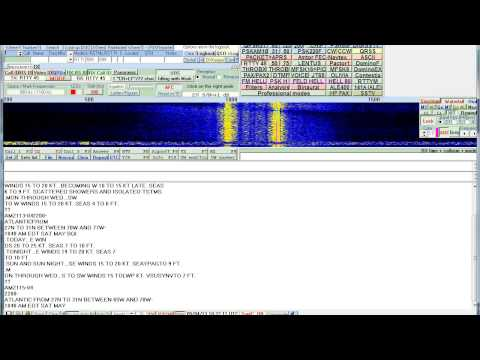 8472 KHZ USB  WLO RTTY Weather broadcast with MultiPSK and Winradio Excalibur Pro