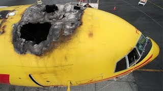 Ground Fire Destroys ABX Cargo Boeing 767 at San Francisco (June, 2008)