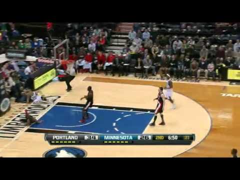 Stiemsma' Solid Defense | Blazers vs Timberwolves  | Feb 4th, 2013