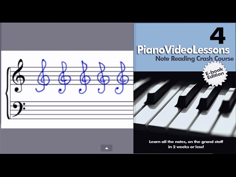 Learn to Play Piano: Lesson 4: (Drawing Bass and Treble Clefs) Sheet Music Note Reading Crash Course