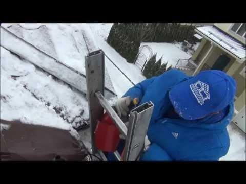 Как установить снегозадержатели на крыше своими руками (фото)