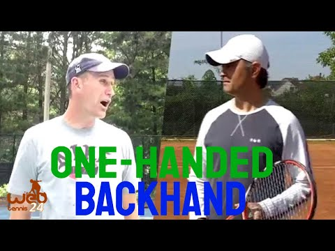 One handed backhand technique - the 2 main elements