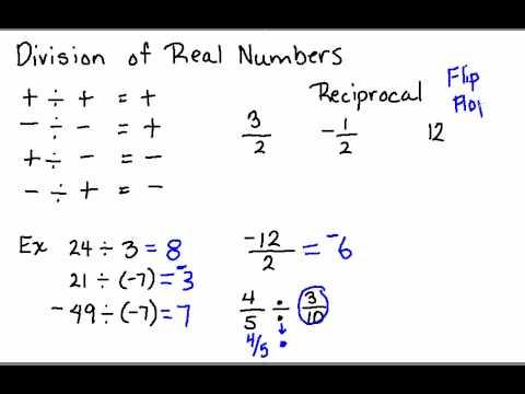 Division of Real Numbers Division of Real Numbers.wmv