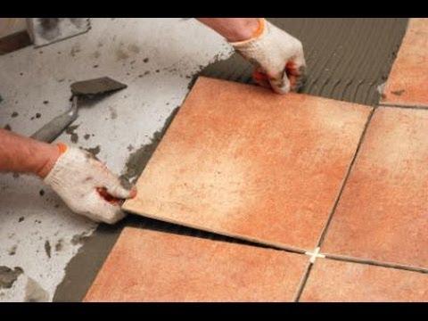 Как положить плитку на пол своими руками в кухне