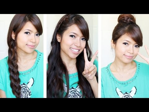 Braided Hairstyles for School Picture Day   5 Strand Braid Hair Tutorial