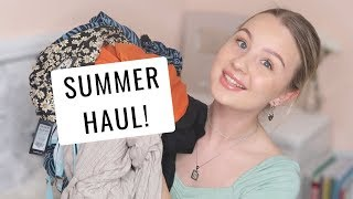 SUMMER CLOTHING HAUL! (try on) | Newlook, ASOS, Topshop