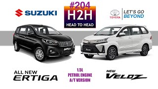 H2H #204 Toyota NEW VELOZ vs Suzuki ERTIGA