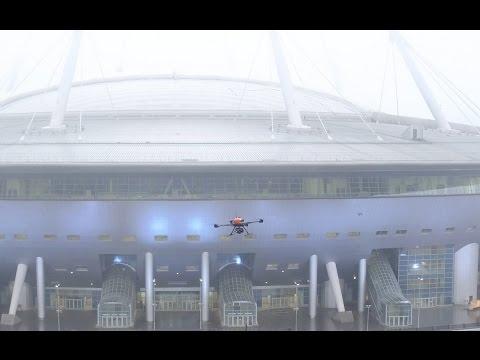 мониторинг строительства с использованием дронов на примере Зенит Арены