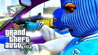 GTA 5 ONLINE -  BOYZ N THE HOOD! BLOODS VS CRIPS