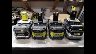 Ryobi VS Knock Off Battery,  Run test and Disasemble !!!!