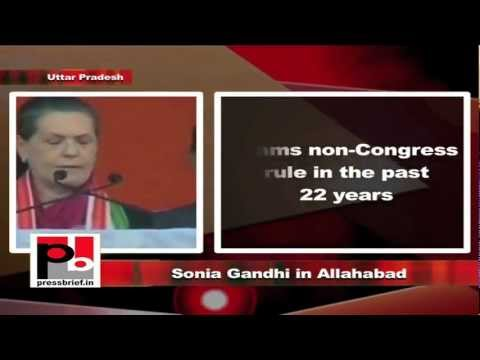 Sonia Gandhi in Allahabad, Uttar Pradesh, 8th February 2012, Part-5