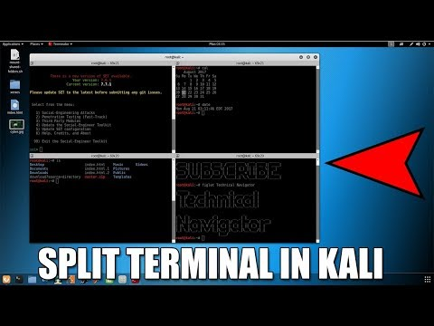 Kali Tutorial [Part-7] Split Terminal In Kali Linux For Multiple Work At One Time