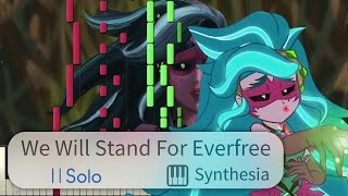 We Will Stand for Everfree - EqG: Legend of Everfree -- |SOLO PIANO COVER w/LYRICS| -- Synthesia HD