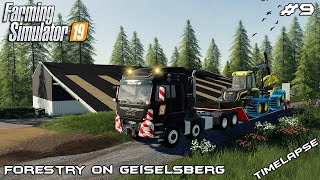 Building machinery and storage shed | Forestry on Geiselsberg | Farming Simulator 19 | Episode 9