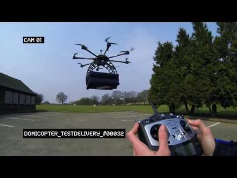 Dominos DomiCopter - First Drone Pizza Delivery