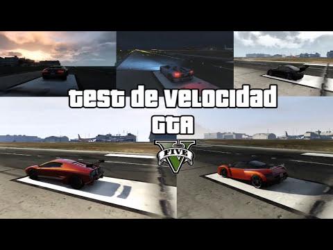 GTA V- Test de velocidad- los coches mas rápidos GTA 5 conseguir los coches mas rápidos localizacion