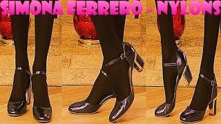 Simona Ferrero FullHD Nylons Pantyhose Collant Strumpfhose on QVC Italia