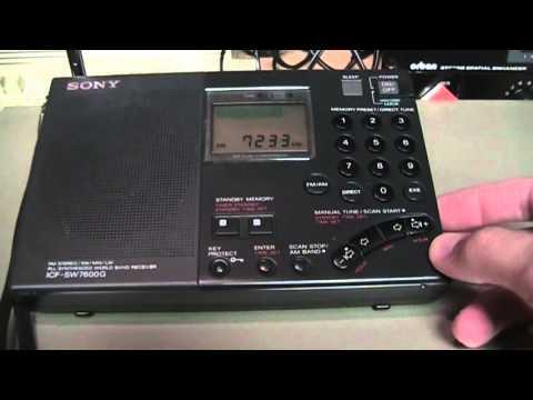 Sony ICF-SW7600G shortwave / LW / MW / FM radio