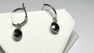 23. 14KT Gold Black Diamond Earrings