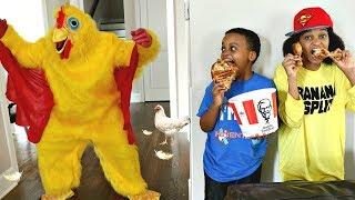 Bad Baby CRAZY KFC CHICKEN ATTACKS Shiloh And Shasha - Onyx Kids