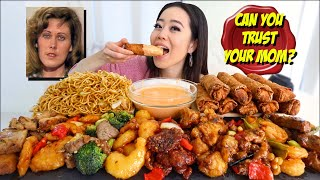Entire PANDA EXPRESS Menu in SPICY ALFREDO SAUCE MUKBANG 먹방 | Eating Show