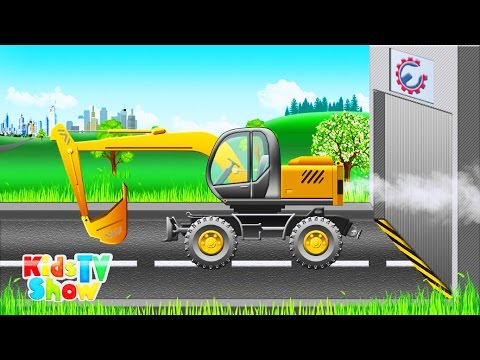 Excavator and Transport Vehicles for Children - Educational Cartoon for Kids - Kids TV Show