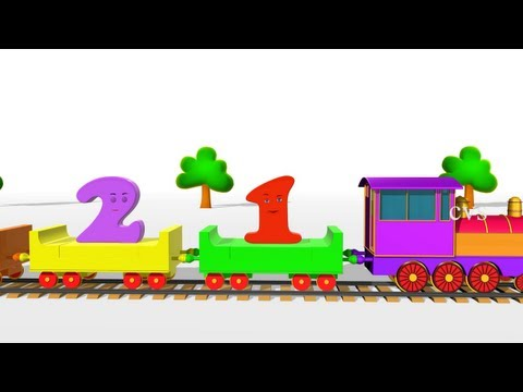 Learn Numbers For Children - 3D Animation Numbers Train Song For Children