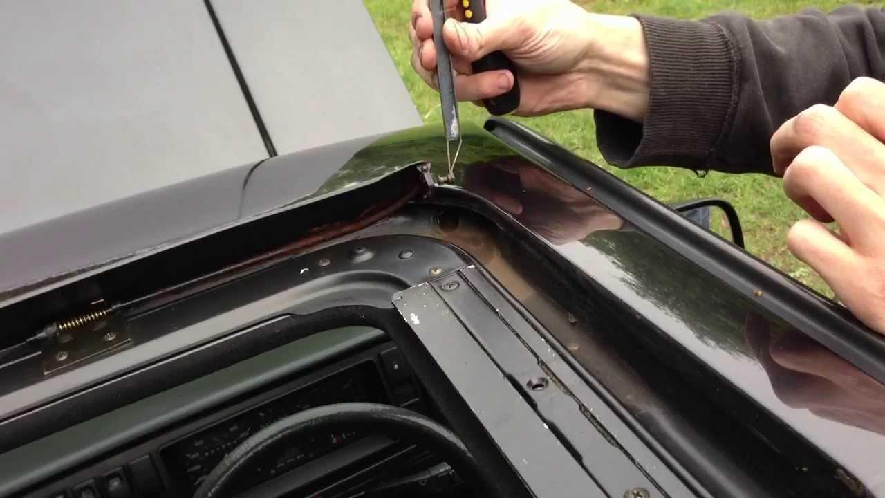 Refit Sunroof Deflector Arm Vw Golf Mk2 Youtube