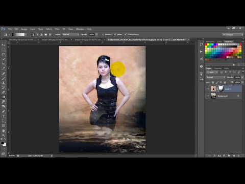 how to blend to images together (merge two images) in photoshop